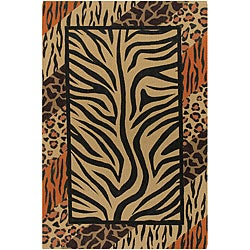 Flat-weave Mandara Animal Print Flora Rug (7'9 x 10'6)