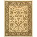Safavieh Handmade Heritage Kerman Ivory/ Brown Wool Rug (6' x 9')