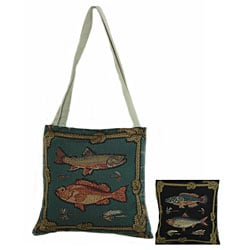 American Mills Framed Fish Open-top Tote Bag