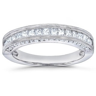 Annello 14k Gold 1/2ct TDW Princess Diamond Band (H-I, I1-I2)