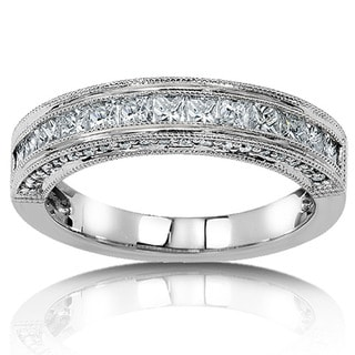 Annello 14k Gold 3/4ct TDW Princess Diamond Band (H-I,I1-I2)