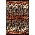 Flat-weave Mandara Flora Animal-print Rug (7'9 x 10'6)