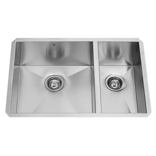 29-inch Undermount Stainless Steel 16 Gauge Double Bowl Kitchen Sink