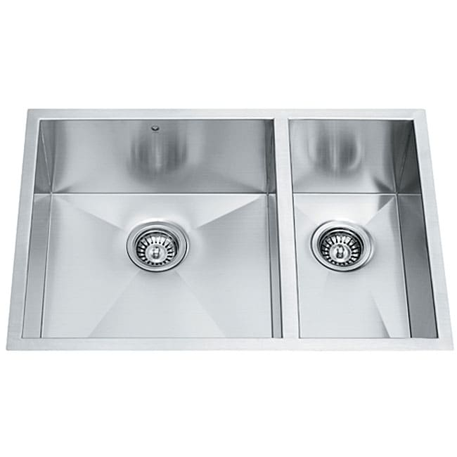 29 inch Undermount Stainless Steel 16 Gauge Double Bowl