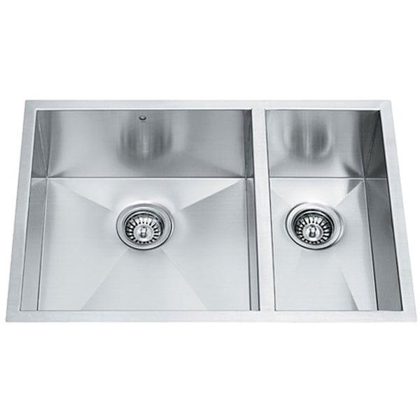 29-inch Undermount Stainless Steel 16 Gauge Double Bowl Kitchen Sink