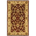 Safavieh Handmade Heritage Kashan Red/ Ivory Wool Rug (3' x '5)