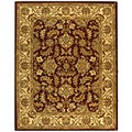 Safavieh Handmade Heritage Kashan Red/ Ivory Wool Rug (6' x 9')