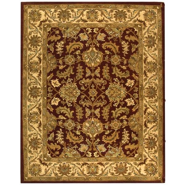 Safavieh Handmade Heritage Kashan Red/ Ivory Wool Rug (7'6 x 9'6)