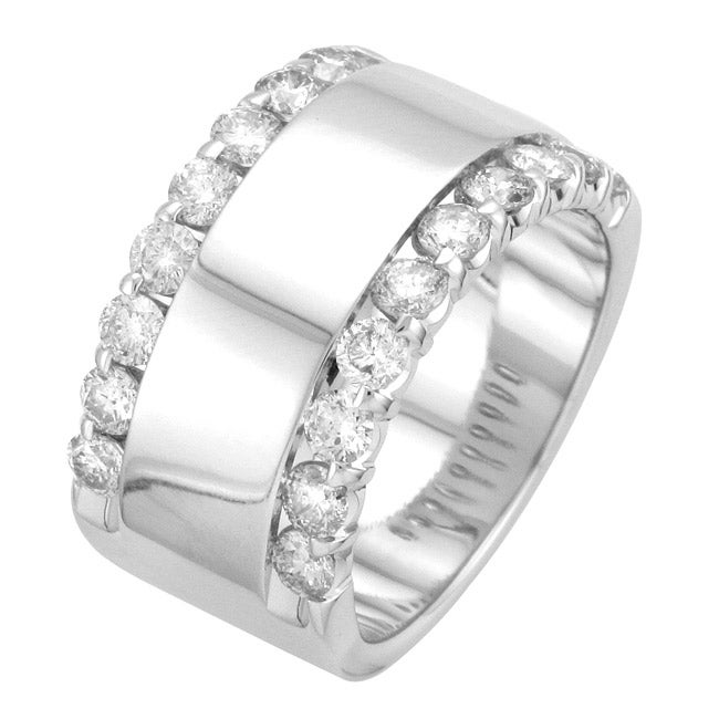 14k White Gold 1 1/2ct TDW Diamond Anniversary Ring (H-I, I1-I2)