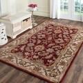 Safavieh Handmade Heritage Kashan Red/ Ivory Wool Rug (9'6 x 13'6)