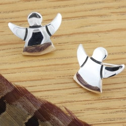 Sterling Silver Mini Angel Earrings (Mexico)