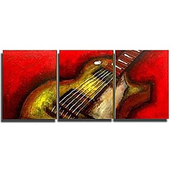 'Guitar Hear Oh' Canvas Art
