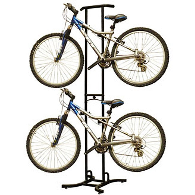 Freestanding Dual Bike Storage Rack System