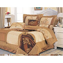 Joicy 7-piece Embroidery Patchwork Comforter Set