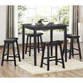 Salvador Black 5-piece Pub Set with 24-inch Stools