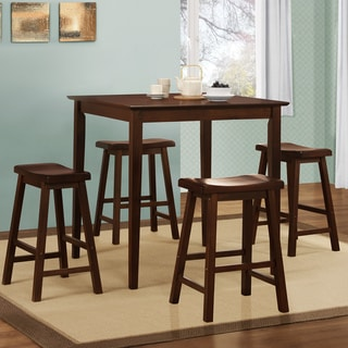 Tribecca Home Salvador Warm Cherry Brown 5-piece Pub