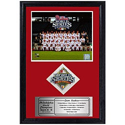 Phillies 2008 World Series Framed Print and Patch