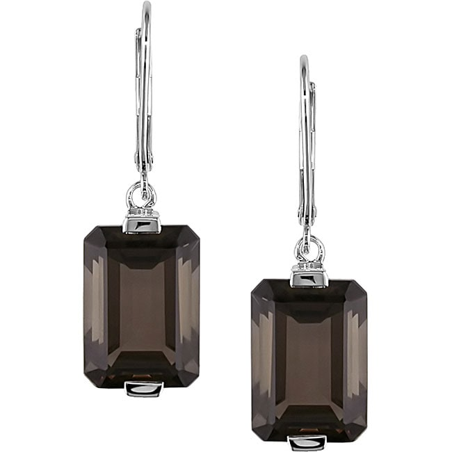 Sterling Silver and Smokey Quartz Earrings