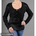 Kaelyn Max Beaded/ Jeweled Women's Blouse