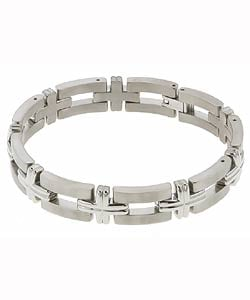 Men'sTitanium Dual-finish Bracelet