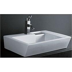 DeNovo Unique Rectangle Porcelain Bath Vessel Sink