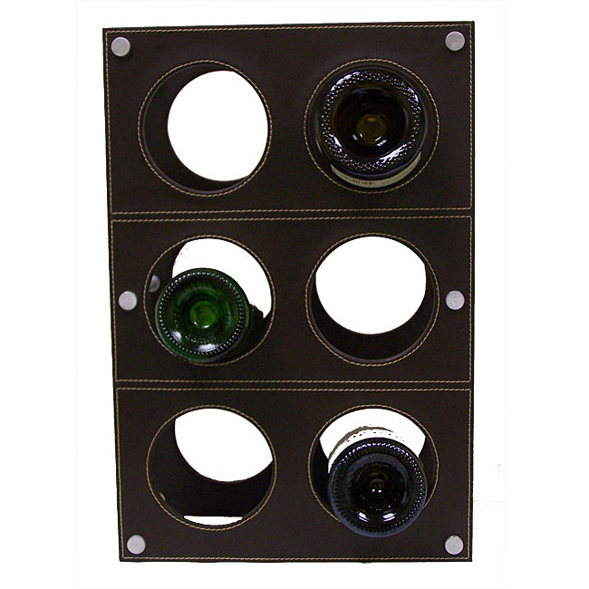 Handcrafted Synthetic Leather Wine Rack (India)