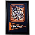Denver Broncos 2008 Team 12x18 Framed Print with Pennant