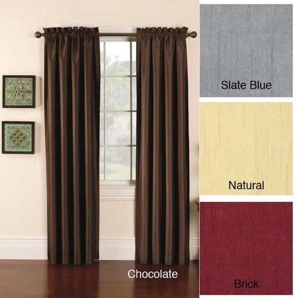 Faux Silk Emerson Curtain Panel Pair