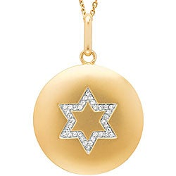 14k Yellow Gold 1/8ct TDW Diamond Star of David Necklace