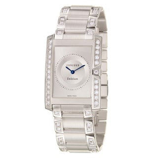 Concord Delirium Men's 18k White Gold Quartz Watch
