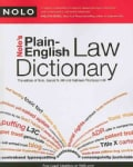 Nolo's Plain-English Law Dictionary (Paperback)