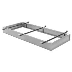 Aluminum-finish Steel Bed Pedestal