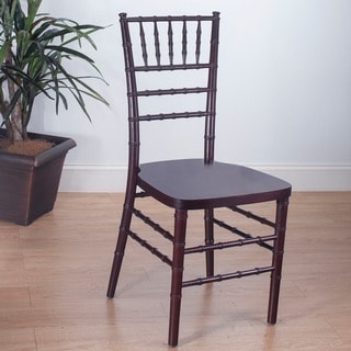 Stackable Fruitwood Ballroom Chairs (Set of 2)
