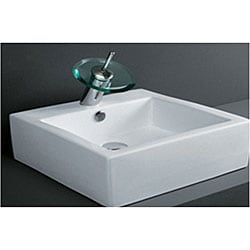 DeNovo Square Porcelain Bathroom Vessel Sink