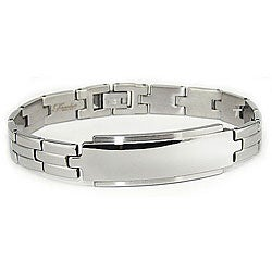 Stainless Steel Men's Engravable ID Link Bracelet