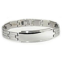 Stainless Steel Men's Engravable ID Link Bracelet