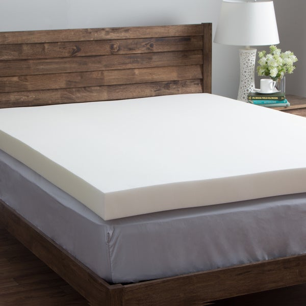 Comfort Dreams Ultra Soft 4-inch Memory Foam Mattress Topper with Bonus Cover