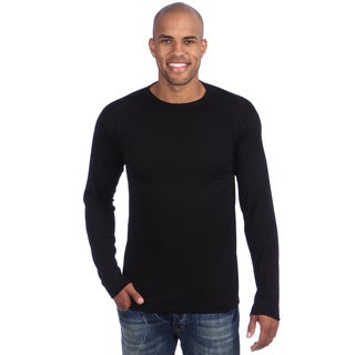 Kenyon Thermals Black Rayon From Bamboo/Polyester Moisture-wicking Crew Top
