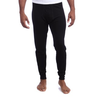 Kenyon Men's Black Thermal Bottom Rayon and Polyester Base Layer