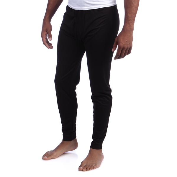 Kenyon Men's Machine-washable Black Silkyester Antimicrobial Bottoms