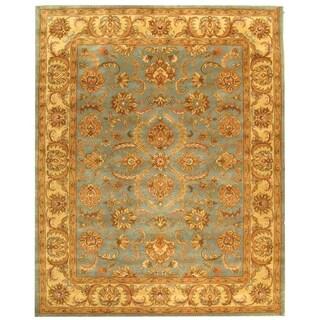 Handmade Heritage Kermansha Blue/ Beige Wool Rug (8'3 x 11')