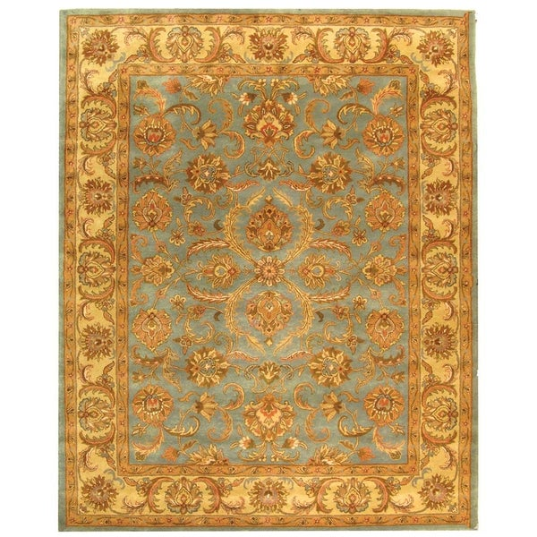 Safavieh Handmade Heritage Kermansha Blue/ Beige Wool Rug (9'6 x 13'6)