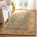 Handmade Heritage Kermansha Blue/ Beige Wool Rug (9&#39;6 x 13&#39;6)