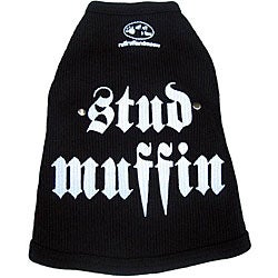 'Stud Muffin' Dog's Cotton Tank Top