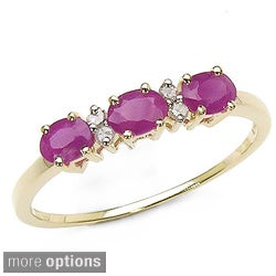 Malaika 10k Gold Gemstone and Diamond Ring