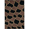 "Geometric-Pattern Hand-Tufted Mandara Wool Rug (2'6"" x 7'6"")"
