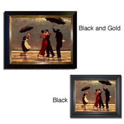 Vettriano 'Singing Butler' Framed Canvas Art