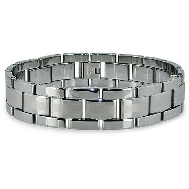 Men's Tungsten Carbide Bracelet (17 mm)