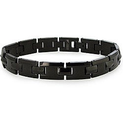 Men's Tungsten Black Carbide Link Bracelet