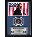 Professionally Framed Obama and Flag 12x18 Photo Print